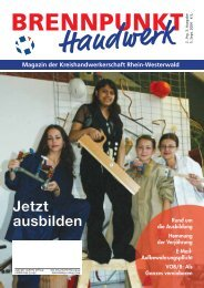 Jetzt ausbilden - Kreishandwerkerschaft Rhein-Westerwald