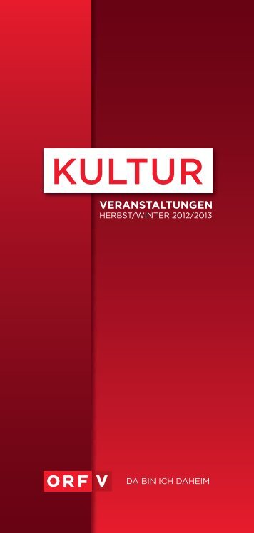 kultur in vorarlberg - ORF