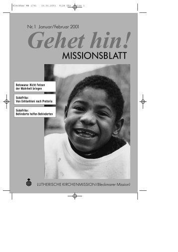 Schwarze Pastoren - Lutherische Kirchenmission Bleckmar