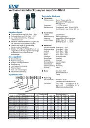 EVM Vertikale Hochdruckpumpen aus Crni-Stahl - Speck Pumpen