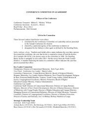 CONFERENCE COMMITTEE ON LEADERSHIP Officers of the ...