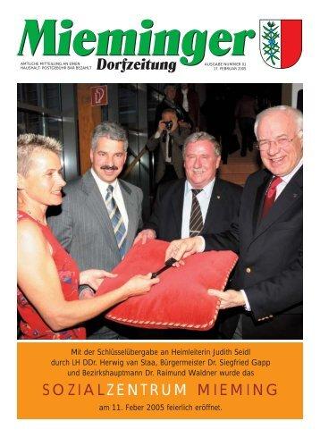 Mieminger Dorfzeitung Feber 2005 - Gemeinde Mieming