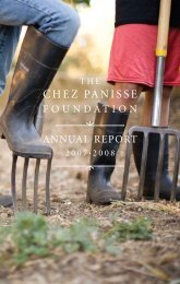 CHEZ PANISSE - Edible Schoolyard