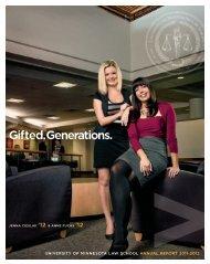 2011-2012 Annual Report - the University of Minnesota Law School