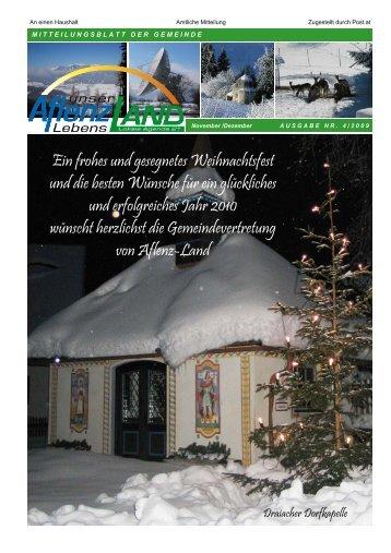 Gemeindezeitung 4/2009 - Aflenz Land