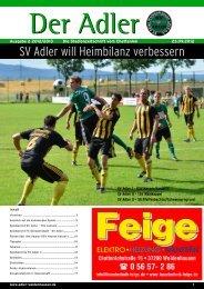 SV Adler will Heimbilanz verbessern - beim SV Adler Weidenhausen