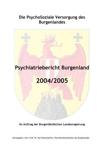 Psychiatriebericht Burgenland 2004 - Burgenland.at
