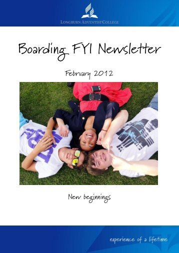 Boarding FYI Newsletter - Longburn Adventist College