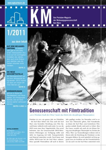 """KM Magazin 1/2011 - Wohnungsgenossenschaft """"Karl Marx ..."""