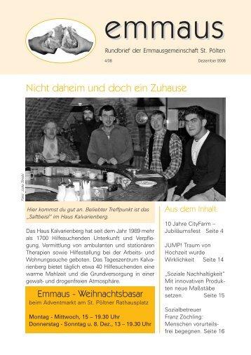 Rundbrief Ausgabe 4/2008 - Emmausgemeinschaft St. Pölten