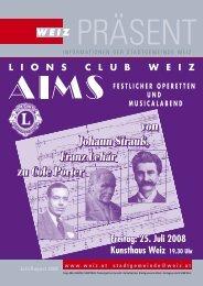 InformatIonen der stadtgemeInde WeIz Juli/August 2008 www.weiz ...