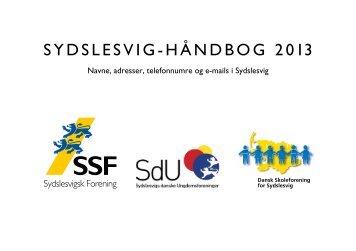 SYDSLESVIG-HÅNDBOG 2013 - SdU