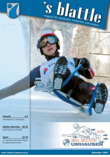 Ausgabe Dezember 2005 (4,04 MB) - Umhausen