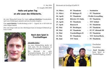 Spielberichte - FC Thanheim