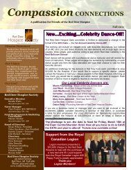 Newsletter Fall 2011.pub - Red Deer Hospice Society
