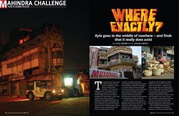 Where exactly? - Mahindra Adventure