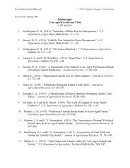 Bibliography Even-aged Growth and Yield - Yale School of Forestry ...