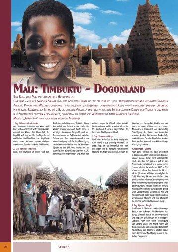 Mali: TiMbukTu - DogonlanD