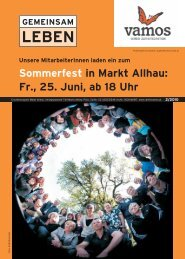 Sommerfest in Markt Allhau: Fr., 25. Juni, ab 18 Uhr - vamos