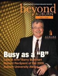 Barry Burkhart Named Recipient of the - Auburn University