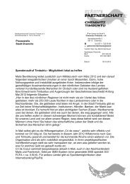 Spendenaufruf des Partnerschaftsvereins Chemnitz-Timbuktu e.V.