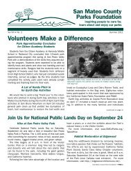 Volunteers Make a difference - San Mateo County Parks Foundation