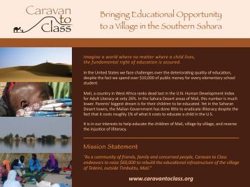 How you can be part of the Caravan to Class Community..