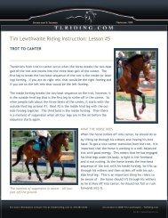 Lesson #5 - Tim Lewthwaite Riding Instruction & Training