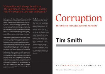 Tim Smith - The Australian Collaboration
