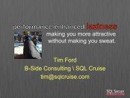 Tim Ford B-Side Consulting \ SQL Cruise tim ... - SQLAgentman
