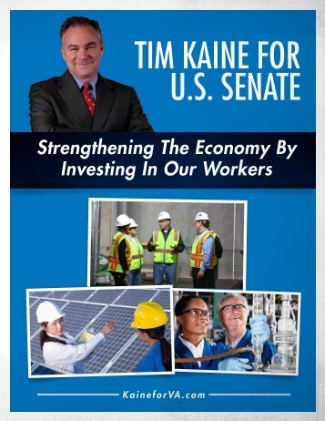 Investing in Our Workers - Tim Kaine for US Senate