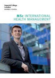 MSc INTERNATIONAL HEALTH MANAGEMENT - Workspace ...