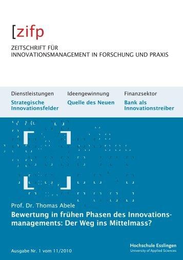 Zeitschrift für Innovationsmanagement in Forschung ... - Alfred Mack