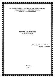 NOVAS AQUISIÇÕES - Senai