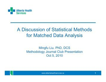 discussion about statistical analysis and results