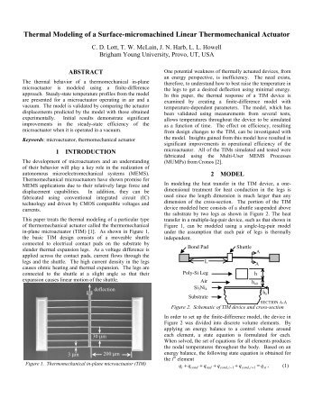 Thermal Modeling of a Surface-micromachined Linear ...