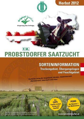 Sorteninformation Herbst 2012 - Probstdorfer Saatzucht