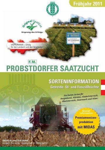 SORTENINFORMATION Getreide, Öl- und ... - Probstdorfer Saatzucht