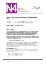 Music Performance (National 4) - Scottish Qualifications Authority