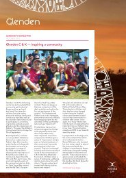 October Newsletter - Glenden