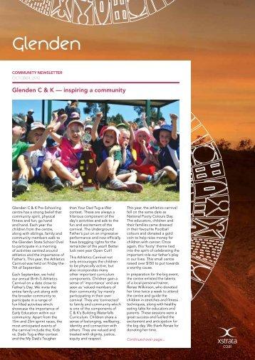 October Newsletter - Glenden