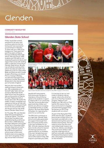 August Newsletter - Glenden