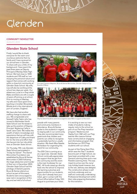 August Newsletter - Glenden