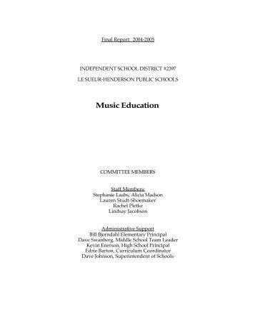 Music Education - ISD 2397 Le Sueur-Henderson Public Schools