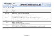 Preliminary Agenda June 18-19, 2008 - e-Learning Baltics