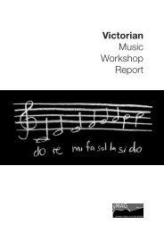 Victorian Music Workshop Report - Association of Music Educators