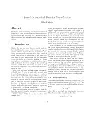 Some Mathematical Tools for Music-Making - Center for Research in ...