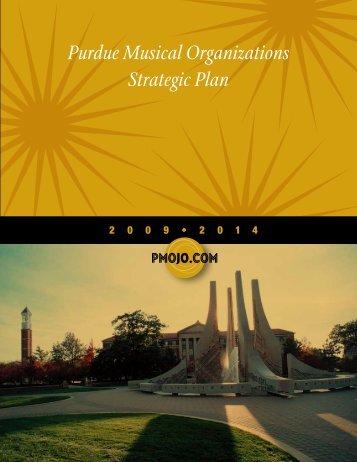 Purdue Musical Organizations Strategic Plan - Purdue University
