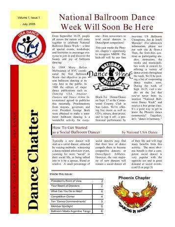 Dance Chatter, Vol 1 #1.pub - Phoenix USA Dance