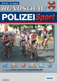 RUnDSCHAU PoLIZEI SPoRt 09–10/2011 - PSV Wien